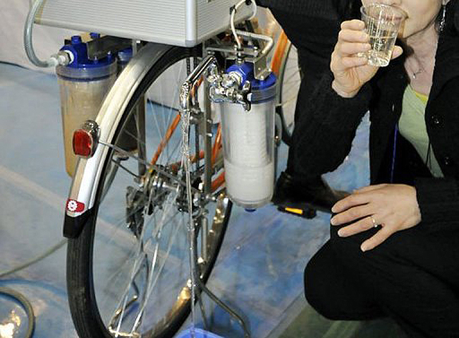 Cycloclean Water Purification Bike